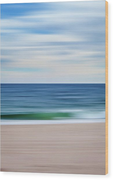 Beach Blur Wood Print