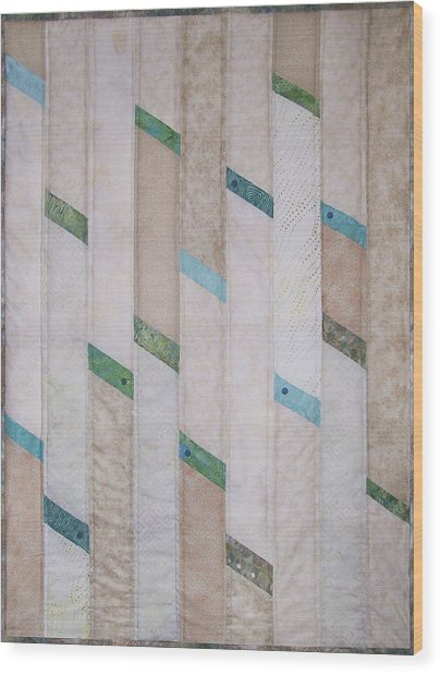Beach Glass Wood Print