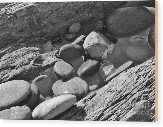 Beach Textures Wood Print