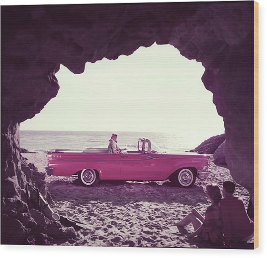 Beached Convertible Wood Print by Tom Kelley Archive