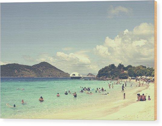 Beachscape Wood Print
