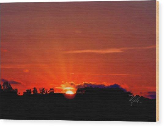 Beacon Heights Sunrise Wood Print