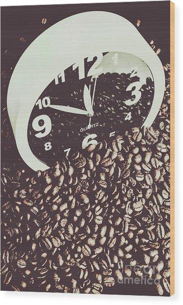 Bean Break Wood Print