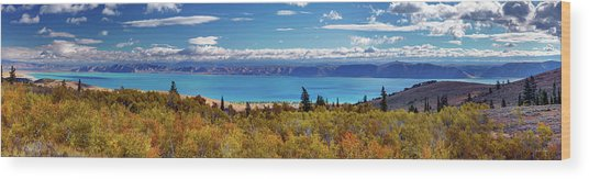 Bear Lake Panoramic Wood Print