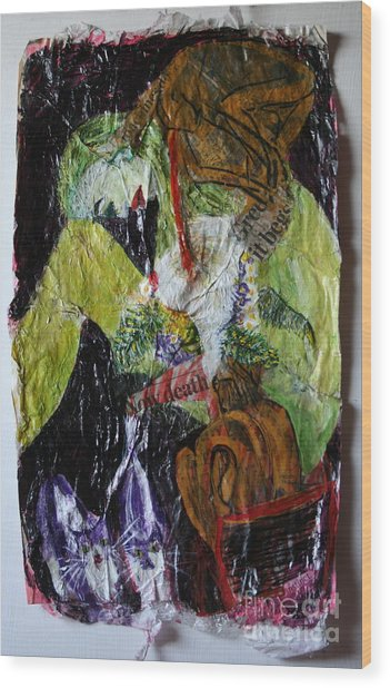 Beaten By A Monkey Wood Print