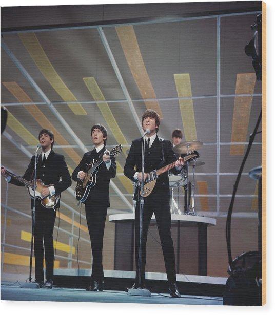 Beatles On Us Tv Wood Print by Paul Popper/popperfoto
