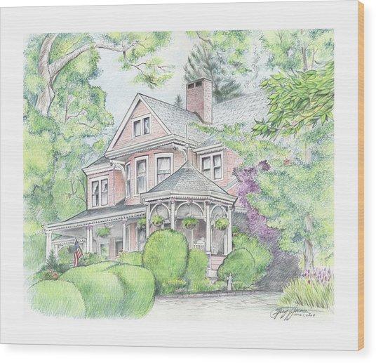 Beaufort House Wood Print
