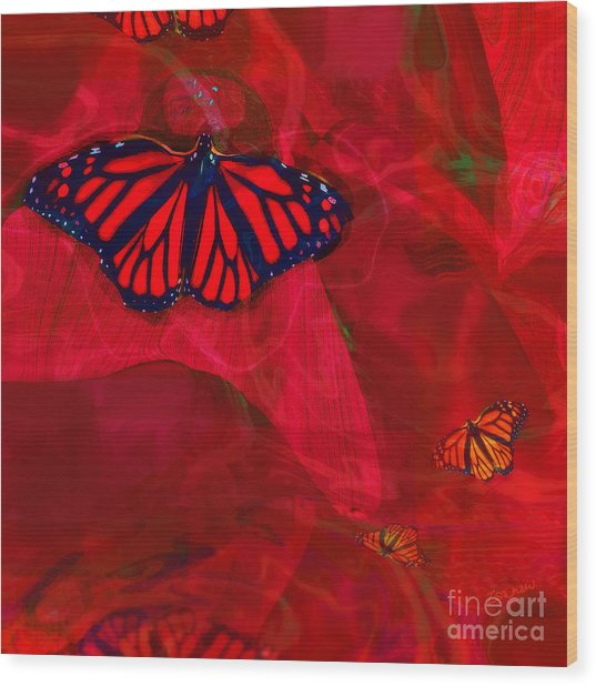 Beautiful And Fragile In Red Wood Print