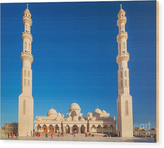 Beautiful Architecture Of Mosque In Wood Print