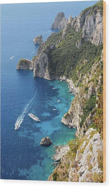 Beautiful Capris Sea Wood Print by Pierpaolo Paldino