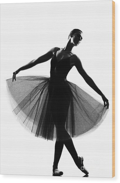 Beautiful Caucasian Tall Woman Ballet Wood Print