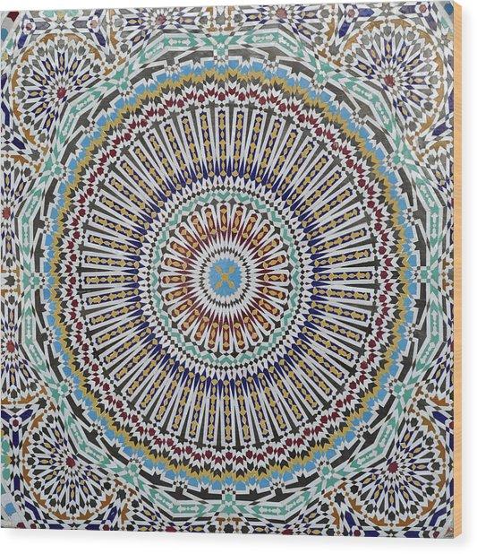 Beautiful Infinity Desgn Mosaic Fountain Wood Print