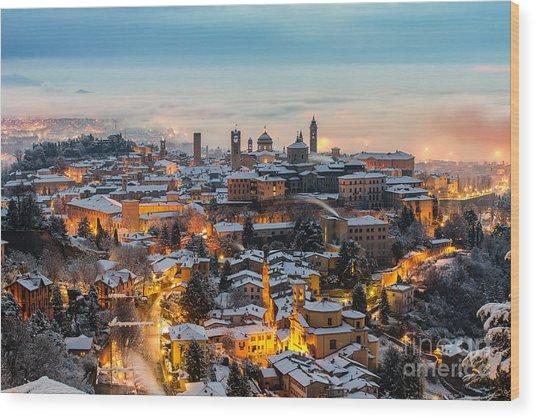 Beautiful Medieval Town At Sunrise Wood Print