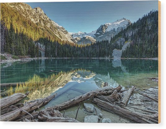 Wood Print featuring the photograph Beautiful Nature Of Joffre Lakes by Pierre Leclerc Photography