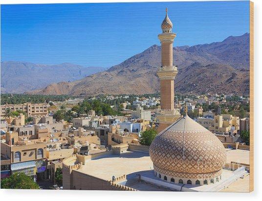 Beautiful Panorama Of Nizwa, Oman Wood Print