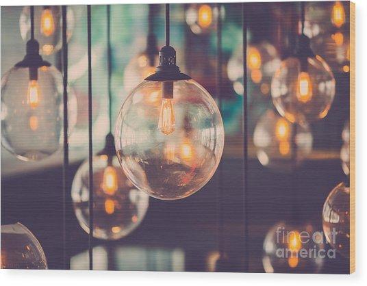 Beautiful Retro Luxury Light Lamp Decor Wood Print