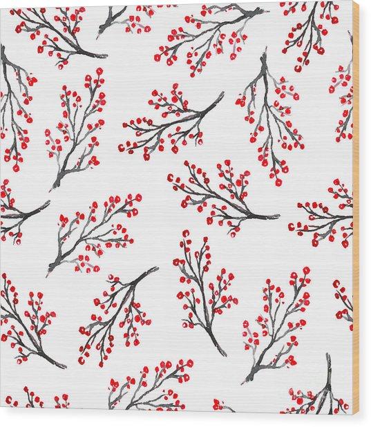 Beautiful Seamless Pattern In Wood Print