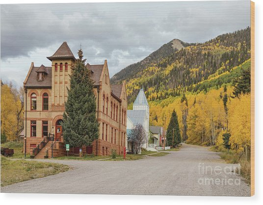 Wood Print featuring the photograph Beautiful Small Town Rico Colorado by James BO Insogna