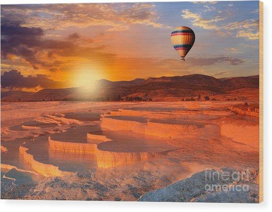 Beautiful Sunrise And Natural Wood Print