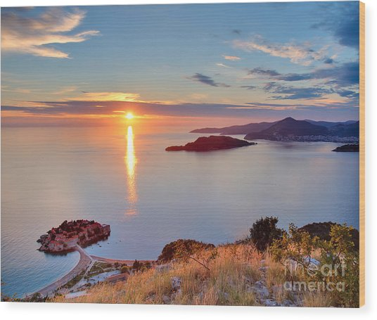 Beautiful Sunset Over Montenegro Wood Print