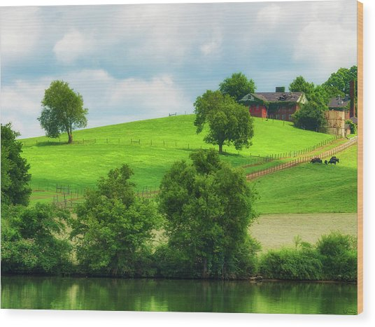 Beautiful Tennessee Countryside Wood Print