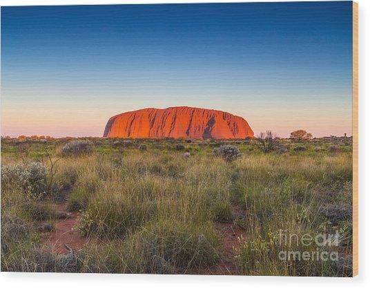 Beautiful View Of Uluru, Ayers Rock Wood Print