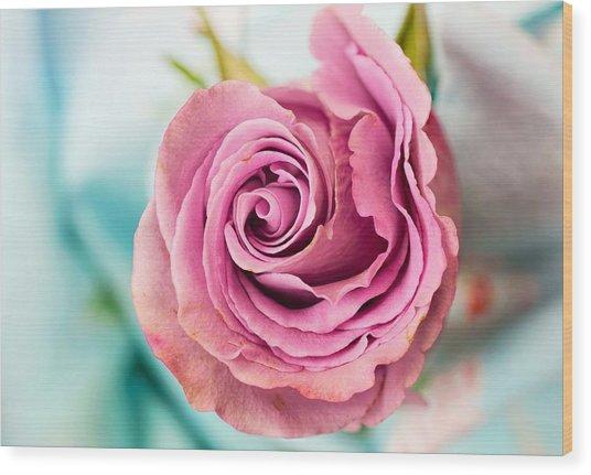 Beautiful Vintage Rose Wood Print
