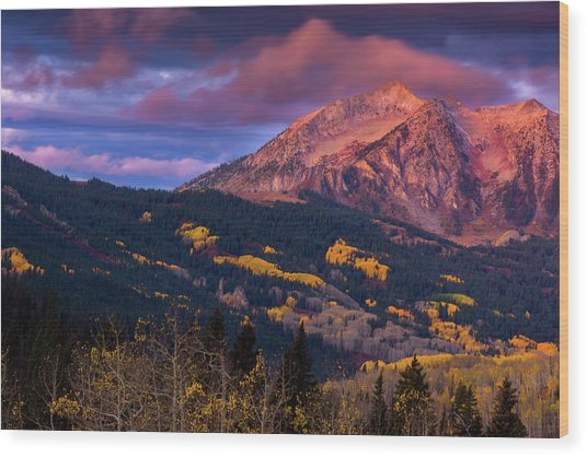 Beckwith At Sunrise Wood Print