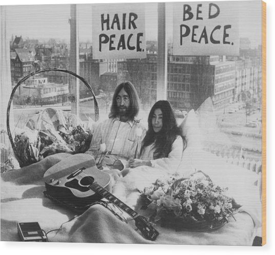 Bed-in For Peace Wood Print