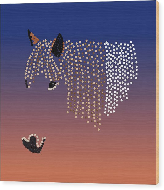 Bedazzled Horse's Mane Wood Print