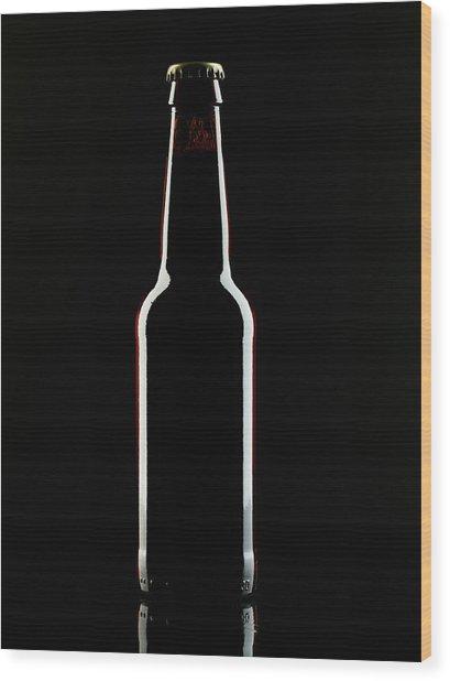 Beer Bottle Wood Print