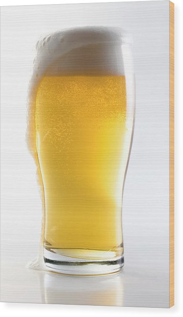 Beer Glass Wclipping Path Wood Print