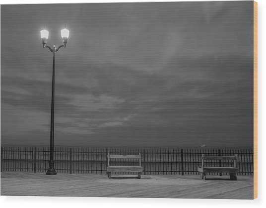 Before Dawn On The Boards Wood Print