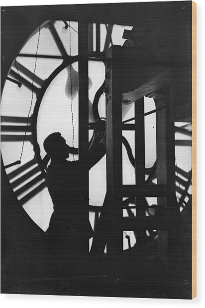 Behind Time Wood Print by Fox Photos