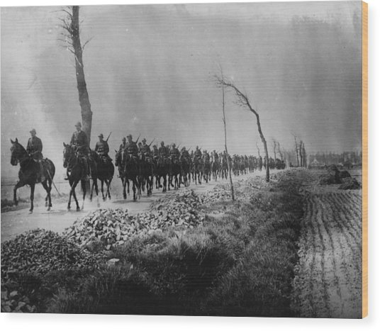 Belgian Cavalry Wood Print by Hulton Archive