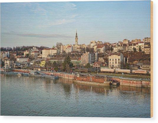 Belgrade Cityscape Wood Print