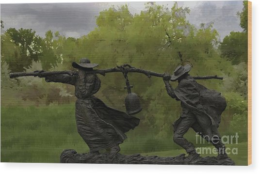 Bell Keepers In A Storm Wood Print
