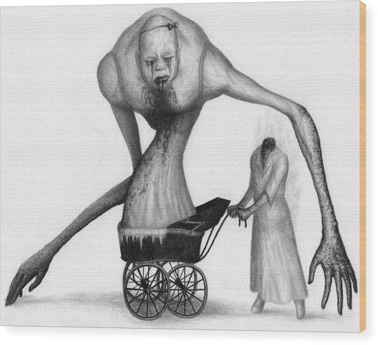 Bella The Nightmare Carriage Updated - Artwork Wood Print