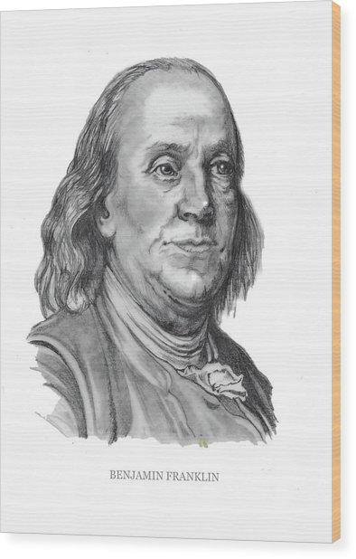 Benjamin Frankline  Wood Print