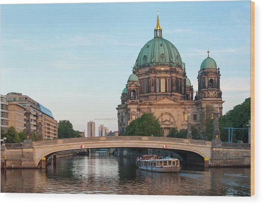 Berliner Dom And River Spree In Berlin Wood Print