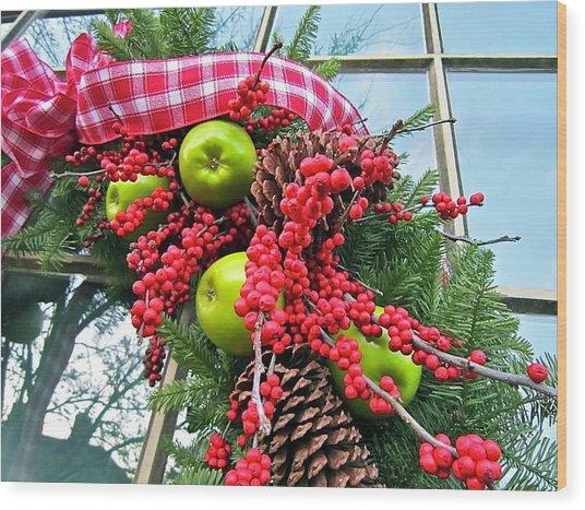 Berry Christmas Wood Print