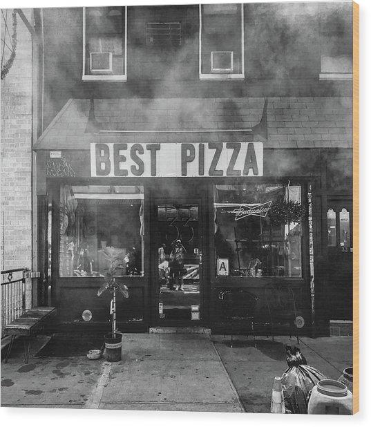 Best Pizza Wood Print