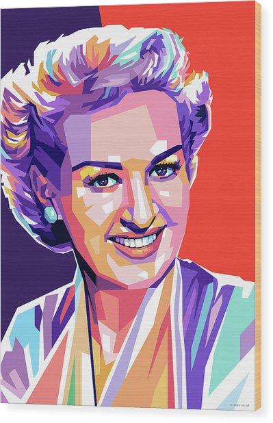 Betty Grable Pop Art Wood Print