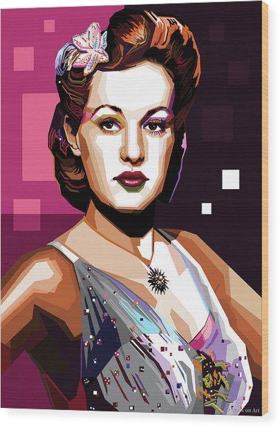 Betty Grable Wood Print
