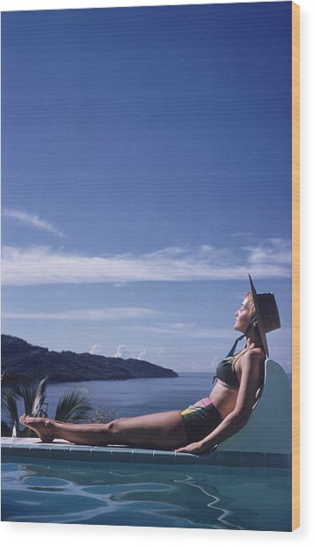 Between Sea And Sky Wood Print by Slim Aarons