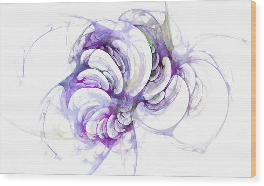 Beyond Abstraction Purple Wood Print