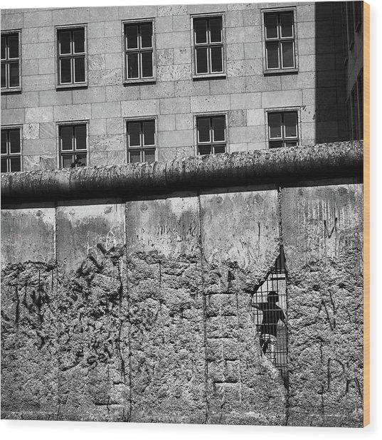 Beyond The Wall Wood Print