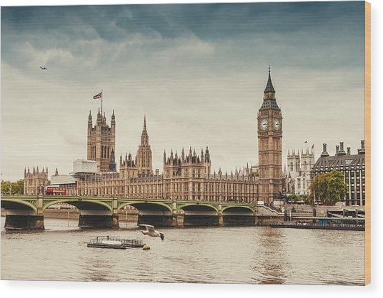 Big Ben And The Parliament In London Wood Print by Knape