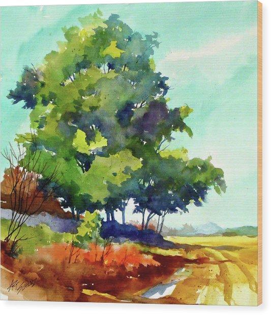 Big Green Wood Print by Art Scholz