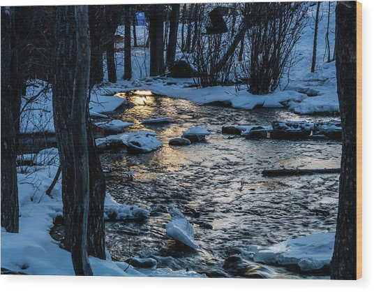 Big Hills Springs Under Snow And Ice, Big Hill Springs Provincia Wood Print